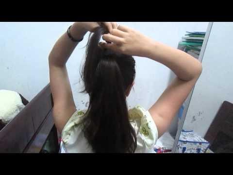 Hướng dẫn buộc tóc đuôi ngựa đẹp