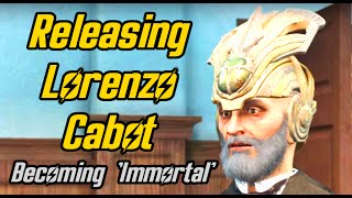 Fallout 4. Setting Lorenzo Cabot free and becoming Immortal . Secret of Cabot House Quest