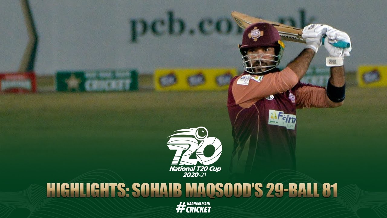Sohaib Maqsood smashes 81 off 29 balls to seal a dramatic win for Southern Punjab | National T20 Cup
