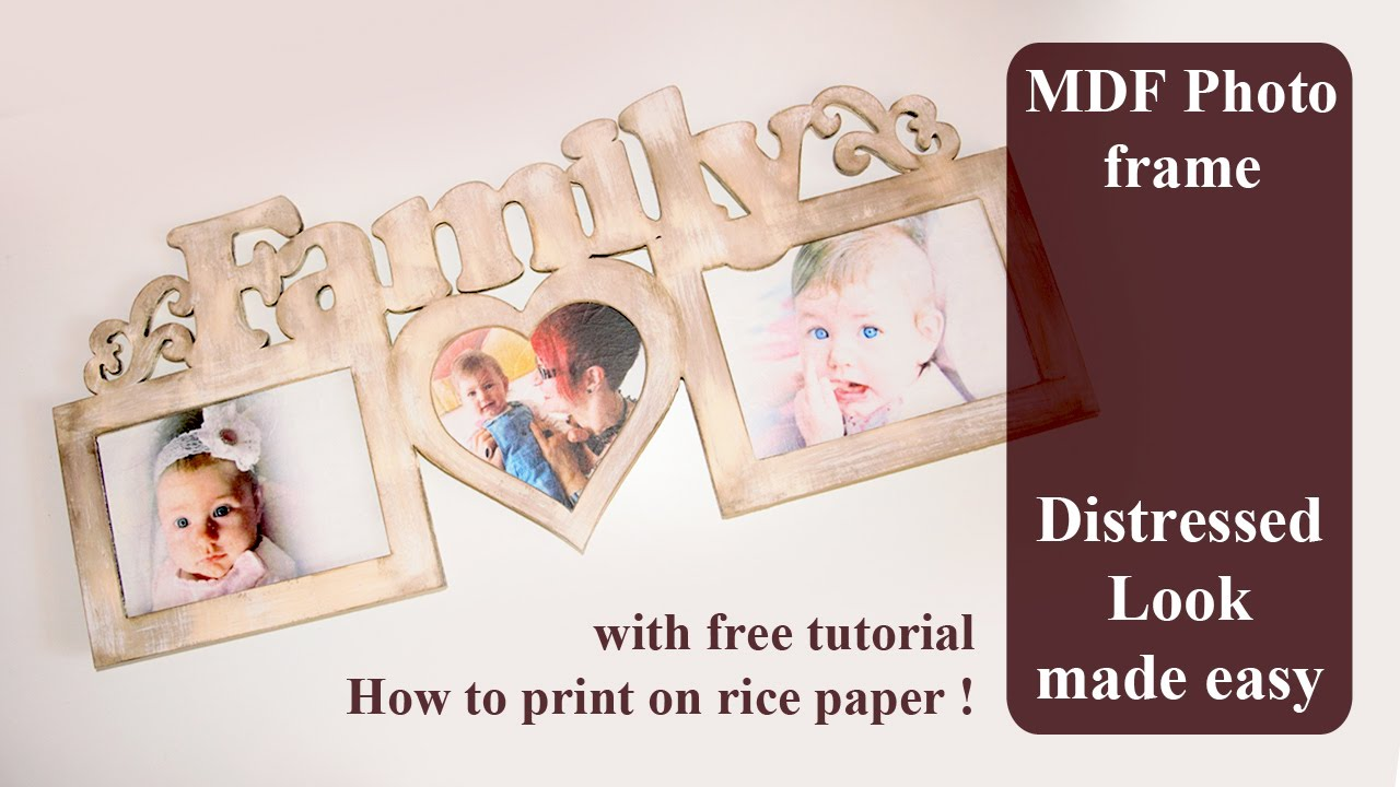 How to shabby chic and decoupage with custom printed rice paper