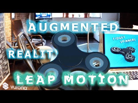 Augmented Reality Tutorial: LEAP MOTION HAND TRACKING in AR/VR with Unity Vuforia