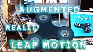 Augmented-Reality-Tutorial: der LEAP-MOTION-HAND-TRACKING in AR/VR, die mit der Einheit Vuforia