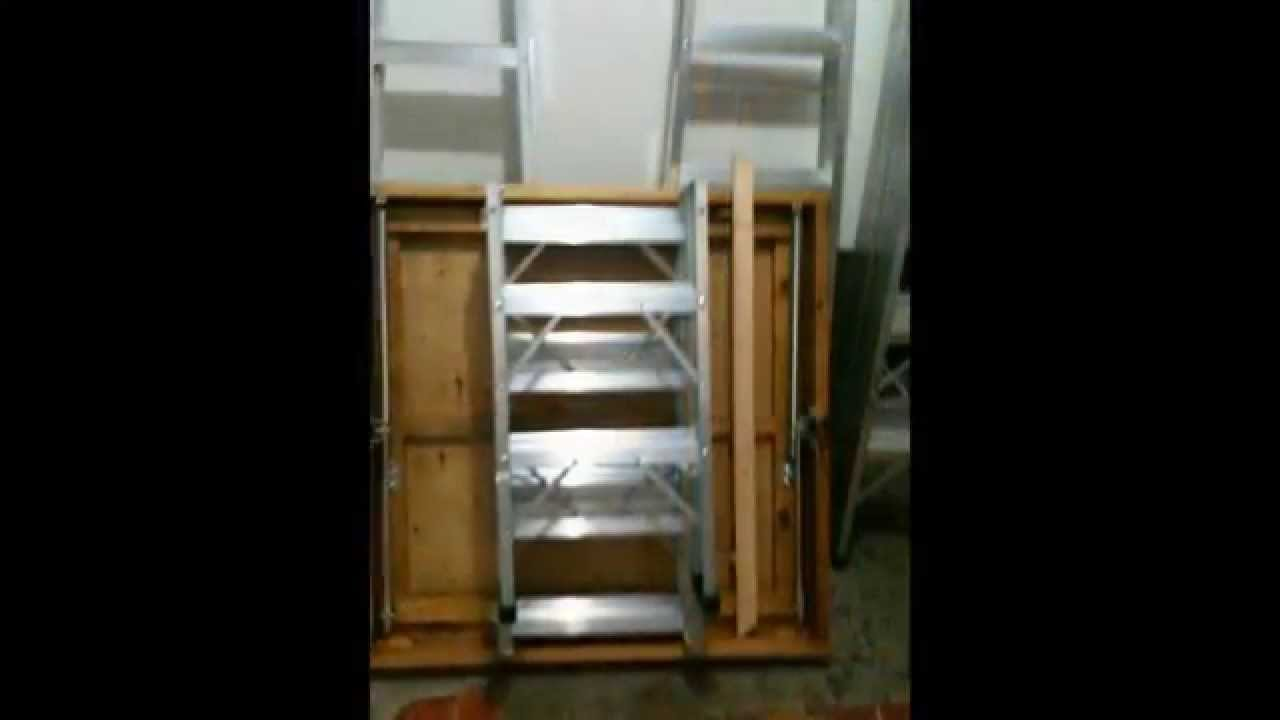 Escaleras tipo mansarda o para altillo youtube - Escalera plegable para altillo ...