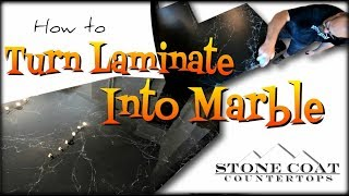 Turn Laminate into Marble epoxy countertop diy