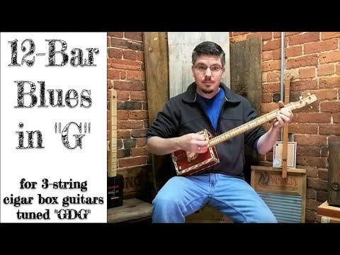 Twelve Bar Blues in G - Cigar Box Guitar Tablature Lesson