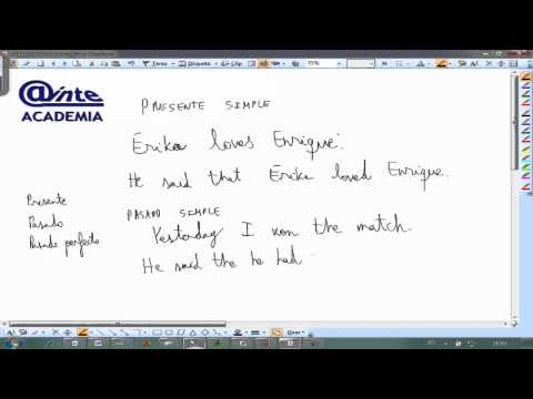 Reported Speech 01 Ingles 2º Bachillerato AINTE Videos De Viajes