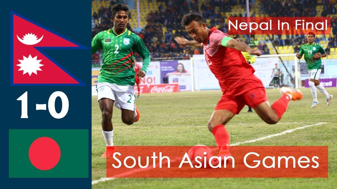 SAG FOOTBALL NEPAL Vs BANGLADESH (1-0) |HIGHLIGHTS | Nepal In Final To Play With Bhutan |