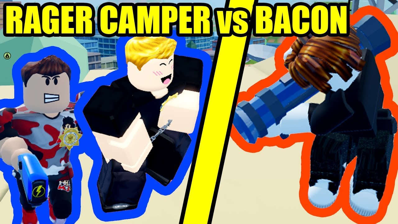 Rage Kid Camping Cops Vs Bacon Hair In Roblox Jailbreak Youtube - no cops free for all roblox jailbreak youtube