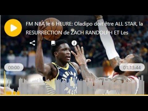 FM NBA le 6 HEURE: Oladipo doit être ALL STAR, la RESURRECTION de ZACH RANDOLPH ET Les résumés de ma