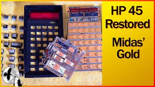 HP Calculator Repair - Vintage HP 45 RPN Calculator Gets a New Lease on Life