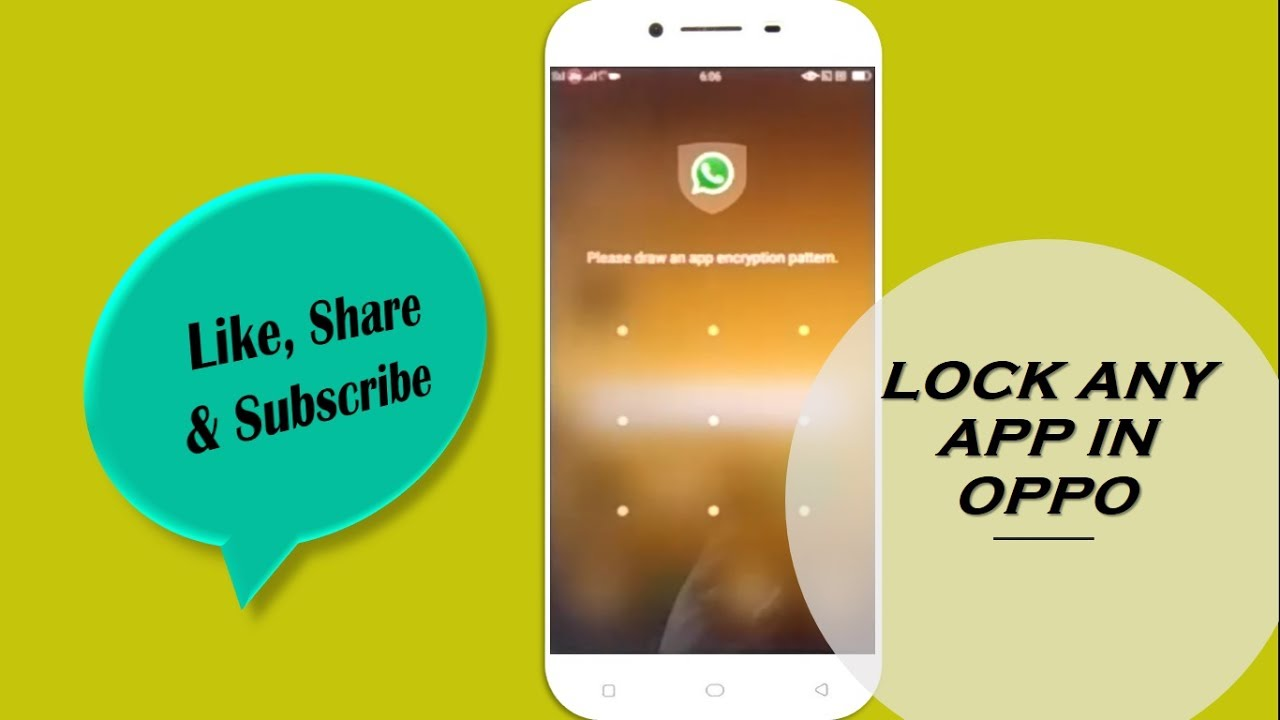 How to Lock Apps in OPPO Phone