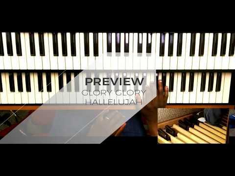 Glory Glory Hallelujah Congregational Song Easy Organ Tutorial