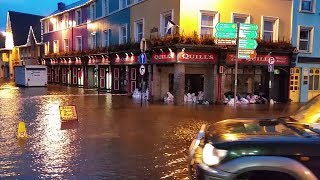 Kenmare in Ireland, before hurricane Ophelia, pubs, bars, hotels, port, travel , holiday,