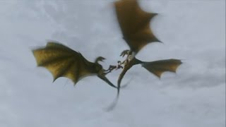 Collection of All Dragon Scenes From Game of Thrones (Season 1- 4)