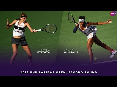 Petra Kvitova vs. Venus Williams | 2019 BNP Paribas Open Second Round | WTA Highlights