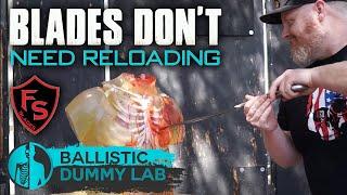 Ballistic Body Sliced Open With Custom Blade