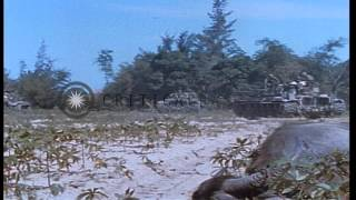3rd brigade of United States 25th Infantry Division during Operation Baker in Vie...HD Stock Footage