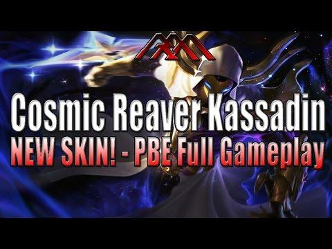 Cosmic Reaver Kassadin Gameplay - New Skin - PBE
