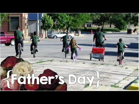 A Nap in the Hammock & a Family Bike Ride │ Father's Day for a Father of 8 ║ Large Family Vlog