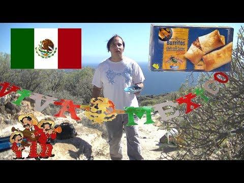 Probando los burritos de chili con carne Don Pancho