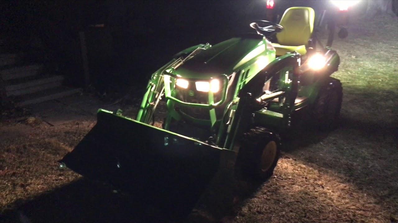 2018 John Deere 1025r Led Lights Youtube