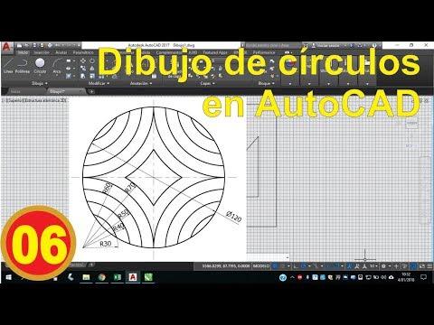 autocad.-dibujo-de-círculos-(1/4)---desde-cero.-video-06.