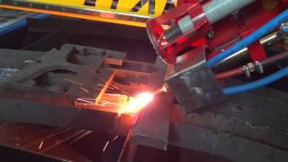 Снятие фаски на станке газовой резки(Универсальный станок плазменной и газовой резки с ЧПУ Старт-2М способен резать металл под углом. Данная..., 2015-01-21T17:05:58.000Z)