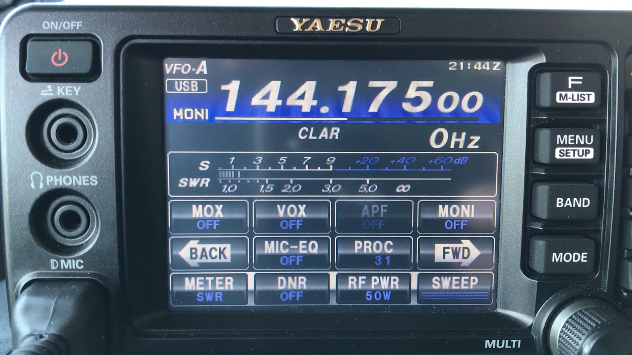 Yaesu FT-991 2m SSB Mobile with a Squalo Antenna