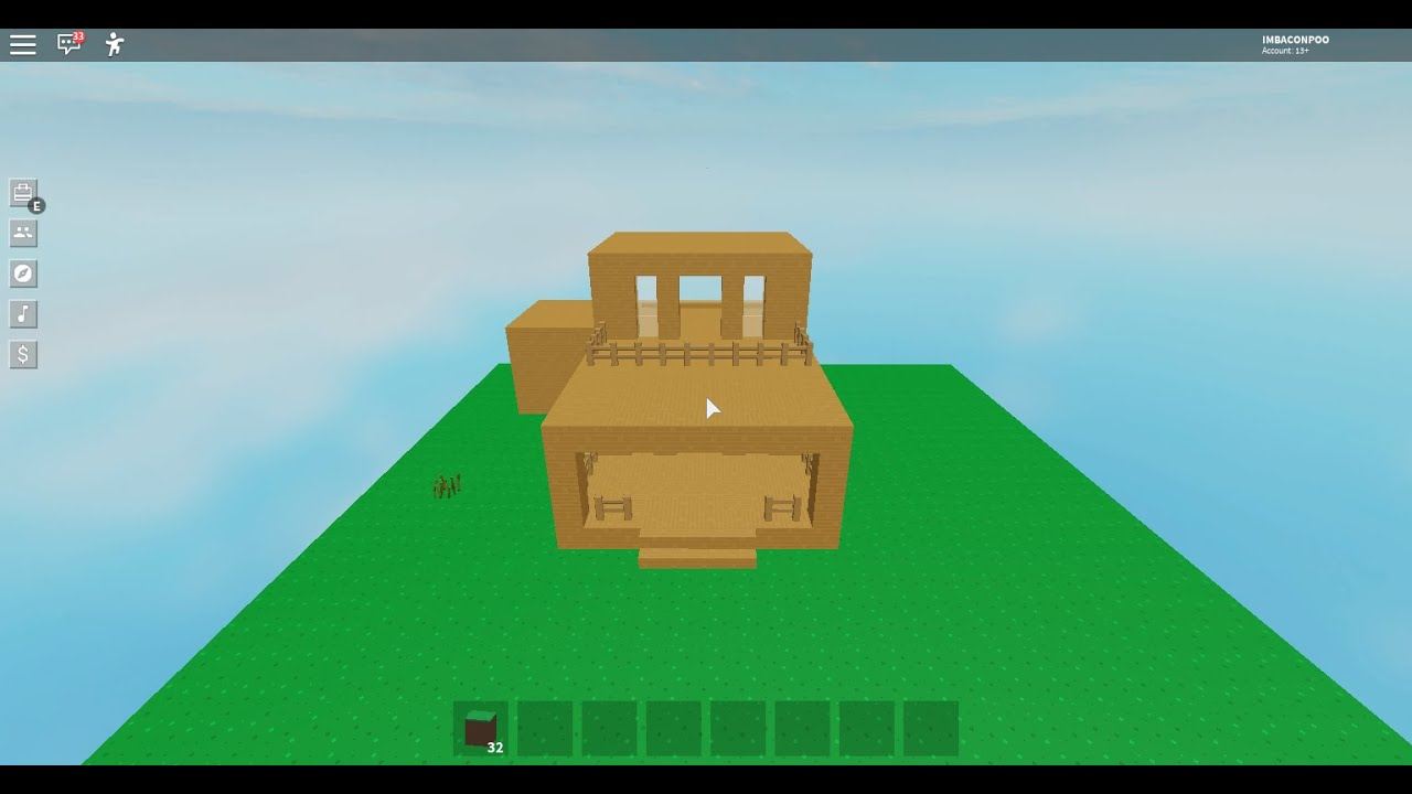 Roblox Skyblock Episode1 Building My House Youtube