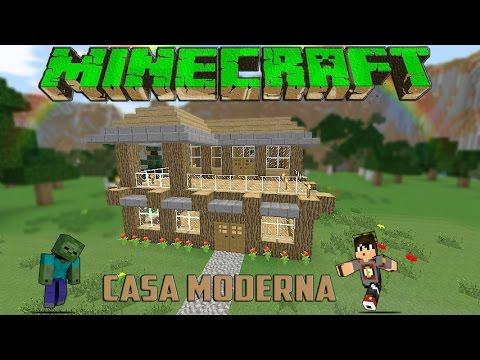 Minecraft Casa Moderna De Madera Facil Tutorial 1 8 7 Youtube