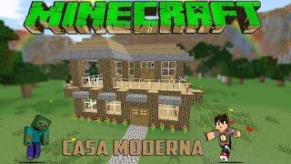 Minecraft-Casa Moderna De Madera /Facil / Tutorial 1.8.7