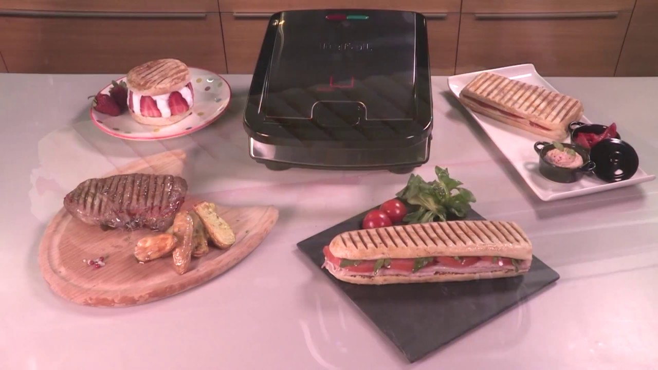tefal snack collection no 3 panini grill plates youtube. Black Bedroom Furniture Sets. Home Design Ideas
