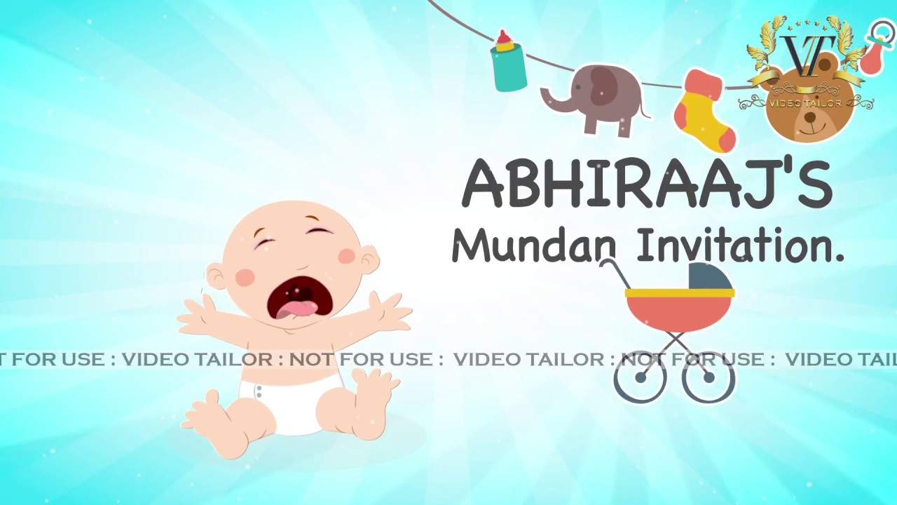 Baby Mundan Ceremony Invitation Video VTEV016 YouTube