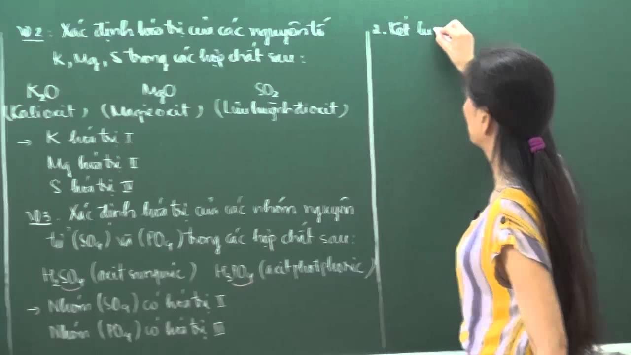 Hóa Học lớp 8 – Hóa trị (tiết 1) – Cô Hoàng Kim Nhung [HOCMAI]