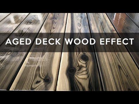 Maumedžio terasos sendintos medienos efektas su geležies sulfatu   AGED WOOD DECK !