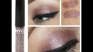 Soft Shimmery Bronze Eye Makeup Look Using Drugstore Products Ft. NYC Sparkle Eye Dust Thumbnail