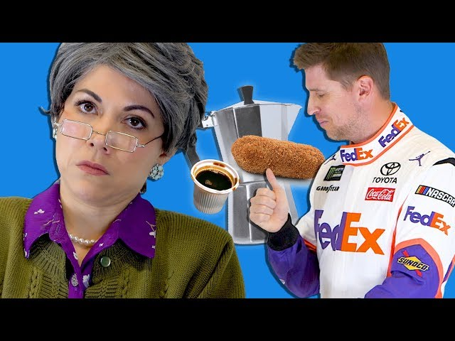 NASCAR Drivers Try Cuban Coffee & Pastelitos For the First Time!