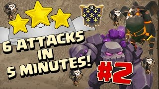 ¡6 ATAQUES EN 5 MINUTOS! #2 Ataques 3 Estrellas TH10 & TH9 | CB-Shattered LaLoon | Clash of Clans