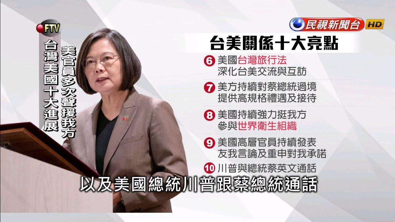 臺美大進展 蔡英文外交十大亮點-民視新聞 - YouTube