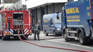 Prio 1 TS46-1 TS44-1 OD40-1 (AL44-1 TS43-2 BR40-1) Middel brand Renes Kinderdijkstraat Rotterdam