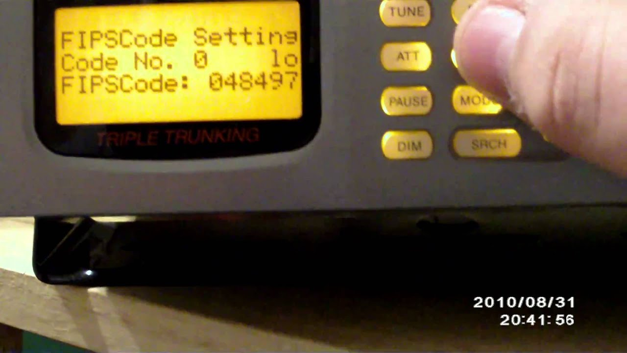 How To Set FIPS Codes on a Scanner (PRO-163 Used)