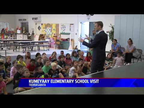 Visiting with the 3rd Graders at Kumeyaay Elementary School