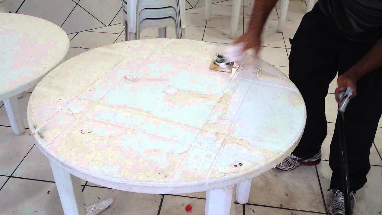 Como desencardir mesa de pl stico youtube - Mesas para ninos de plastico ...