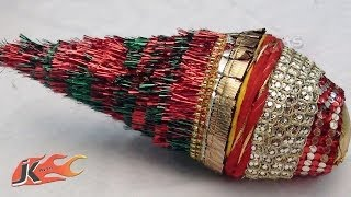 Diy Wedding Shagun Nariyal Packing | How To Make Coconut Decoration | Jk Arts 155