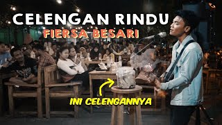 CELENGAN RINDU - FIERSA BESARI LIRIK LIVE AKUSTIK COVER BY TRI SUAKA - PENDOPO LAWAS