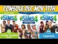 Sims 4 Console DLC & Deluxe Party Edition