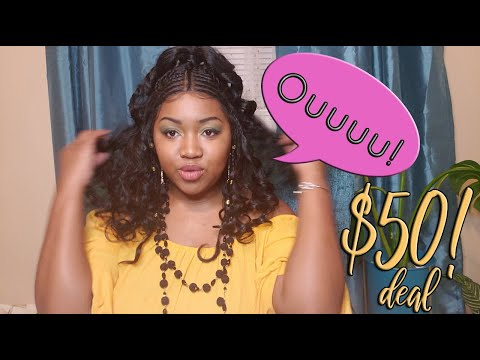 DIVA-LACE H FULANI 103 Wig Review | Cheap $50 Braided Unit SLAYS