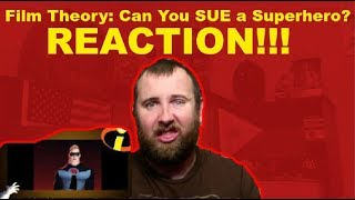 Film Theory: Can You SUE a Superhero?(Disney Pixar's The Incredibles) REACTION!