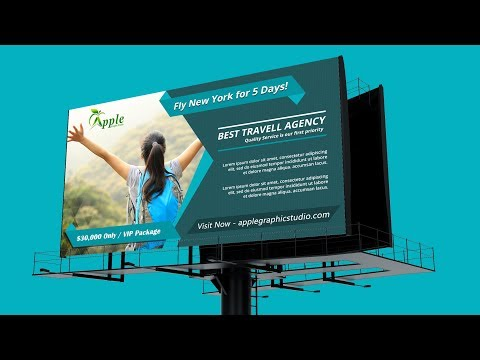 Billboard Banner Template Design - Photoshop CC Tutorial