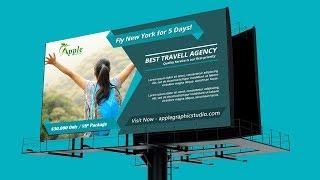 Billboard Banner Template Design - Photoshop CC Tutorial